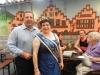 Brunnenkönigin Karin II. mit Ihrem Schirmherr Stephan Siegler,bei Ihrer persönlichen Verabschiedung