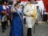 Einmarsch unserer Brunnenköngin Karin II. mit dem Königsteiner Hauptmann auf den Paradiesplatz