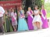 Bilder von den Gastköniginnen mit der noch amtierenden Apfelblütenkönigin Bianca I.