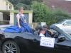 Karin II. beim Laternenumzug in Büdesheim auf einem Mustang Cabrio