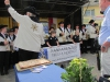 Fanfarenzug Hundstadt  begleitet die Gasthoheiten und Ehrengäste auf die Bühne des Europatages