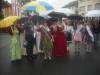 MIt Schirm beim Krifteler Umzug