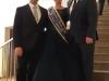 Die Sachsenhäuser Brunnenkönigin Gabriele I. mit dem Vorsitzenden des Vereinsring Heddersheim