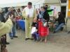 Bilder bei der Verlosung der Preise vom Ostermalwettbewerb