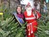 Foto: MM Ramona mit dem Nikolaus im Tannenwald