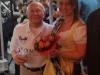 Paul Ditze mit unserer Brunnenkönigin Jennifer II. bei der Verabschiedung